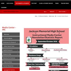 Christopher Lainson - Media Center - IMC / Circulation Statistic Reports