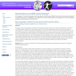 Circumcision and HIV clinical trials