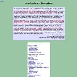 Circumcision Complications