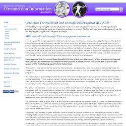 Circumcision, HIV and condoms