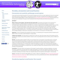 Circumcision and sexual function