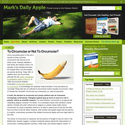 Is Circumcision Safe? | Mark's Daily Apple