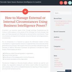 How to Manage External or Internal Circumstances Using Business Intelligence Power?