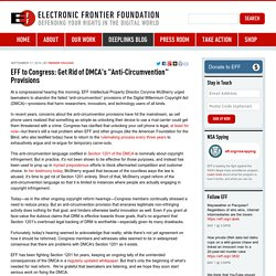 "EFF to Congress: Get Rid of DMCA's ""Anti-Circumvention"" Provisions"