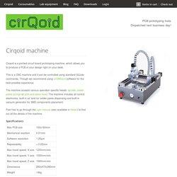 Cirqoid - PCB prototyping machine