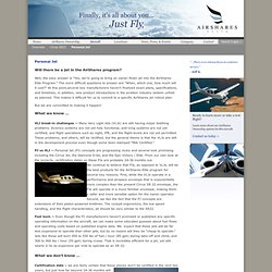 Cirrus Vision Personal Jet PJ VLJ