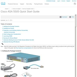 Cisco ASA 5505 Quick Start Guide