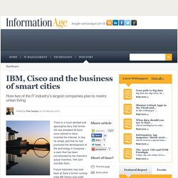 IBM, Cisco and the business of smart cities