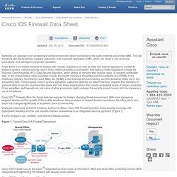 Cisco IOS Firewall Data Sheet