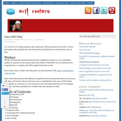 Cisco IOU FAQ — Evil Routers