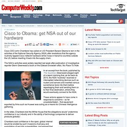 Cisco to Obama: get NSA out of our hardware