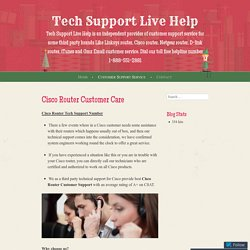 Cisco Router Customer Service Phone Number
