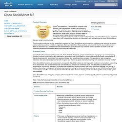 SocialMiner 8.5? [Cisco SocialMiner