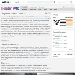 Cisgender - Gender Wiki