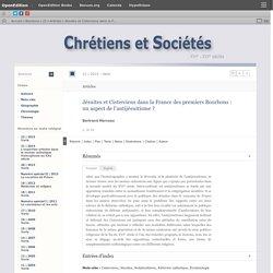 Jésuites et Cisterciens dans la France des premiers Bourbons: un aspect de l'antijésuitisme?