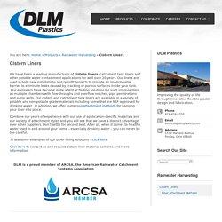 Cistern Liners - DLM Plastics