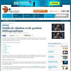 Outils de citation et de gestion bibliographique