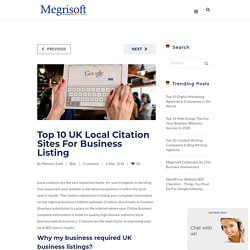 Top 10 UK Local Citation Sites For Business Listing