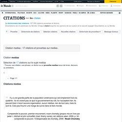 Citation medias - 17 citations et proverbes sur medias