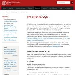 apa citation the rules and conventions Apa style is a set of rules and guidelines provided by this association to ensure a professional standard of scholarly writing apa style is the required citation style in all ashford university courses.