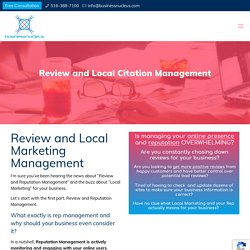 Review and Local Citation Management - Business Nucleus
