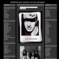 Citations par auteurs et par groupes