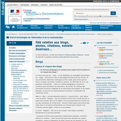 FAQ relative aux blogs, photos, citations, extraits musicaux... — Documentation (CDI)