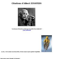 Citations de EINSTEIN