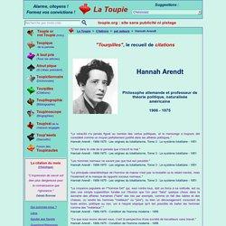 Citations : Hannah Arendt