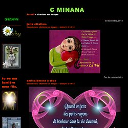 citations sur images · C MINANA