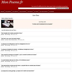 Citations de Lao-Tseu -