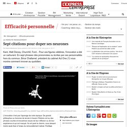 Sept citations pour doper ses neurones