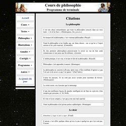 Citations de philosophes