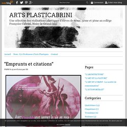 """Emprunts et citations"" - ARTS PLASTICABRINI"