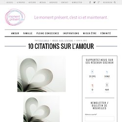10 citations sur l'amour