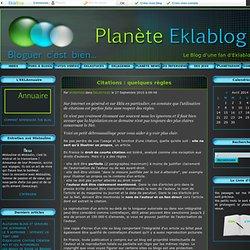 Citations : quelques règles - Planète EKLABLOG