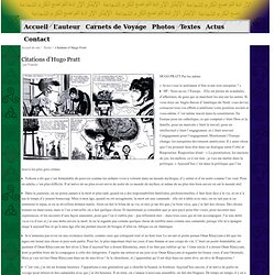 Citations d'Hugo Pratt - Francky Planet.org - Carnet de Voyages et autres réjouissances