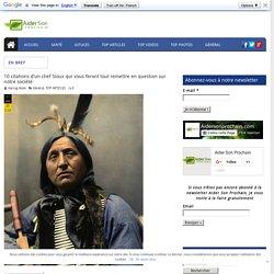 10 citations d'un chef Sioux qui vous feront tout remettre en question sur notre société
