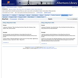 Blog Posts - Citations - Library Research Guides at Boise State University