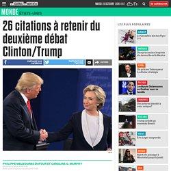 26 citations à retenir du deuxième débat Clinton/Trump