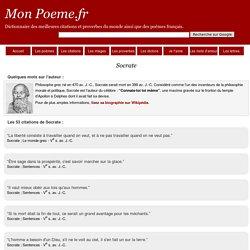 Citations Socrate - Ses 53 citations