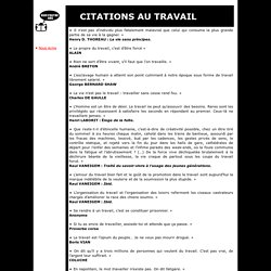 Citations au Travail - rienfoutre.org