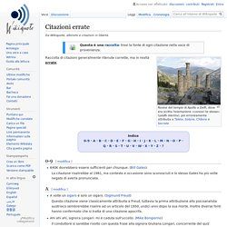 Citazioni errate - Wikiquote
