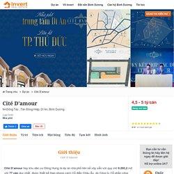 Cité D'amour - Dự án Nhà Phố đẳng cấp số 1 TP Dĩ An