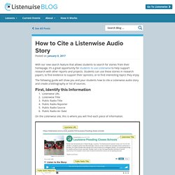 How to Cite a Listenwise Audio Story - Listenwise Blog