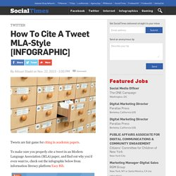 How To Cite A Tweet MLA-Style [INFOGRAPHIC]
