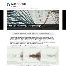 Citeology - Projects - Autodesk Research