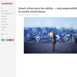 Smart cities have the ability