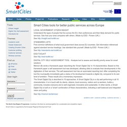 Smart Cities tools for better public services across Europe