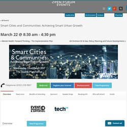 Smart Cities and Communities: Achieving Smart Urban Growth -